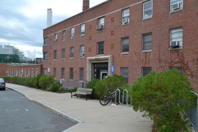 The Hilda May Williams Student Health Services building serves as the Infirmary for UConn students on the Storrs campus. (Amar Batra/ The Daily Campus)