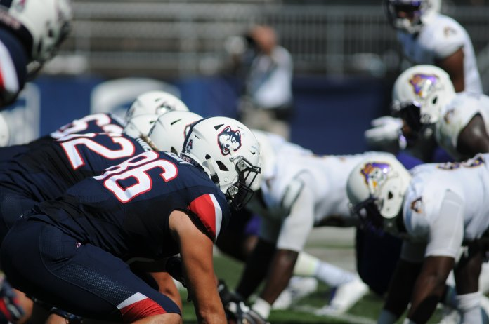 The UConn football team will be traveling to Philadelphia this weekend to take on Temple, the reigning American Athletic Conference champions. (Jon Sammis/Daily Campus)