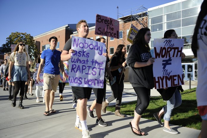 """Trice said the purpose of including """"SlutWalk"""" in the event's title was to allow women to reclaim the word """"slut"""" in a positive way, but they decided to forgo it this year in order to make the event more inclusive. (File/The Daily Campus)"""