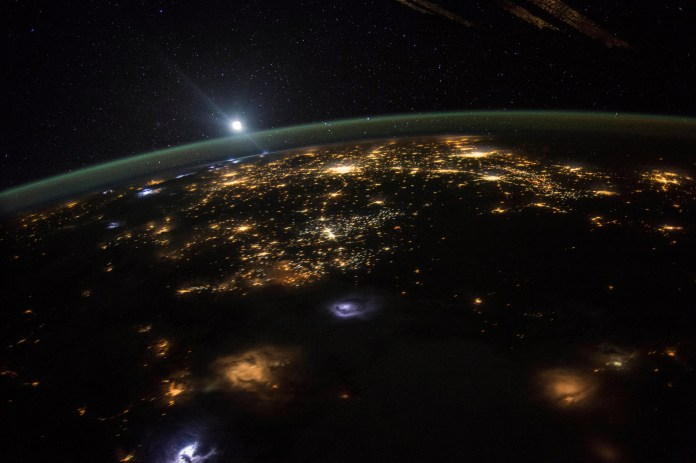 FILE - This Aug. 10, 2015 photo made available by NASA shows a sunrise from the vantage point of the International Space Station, about 220 miles above the surface of the Earth. (Scott Kelly/NASA via AP)