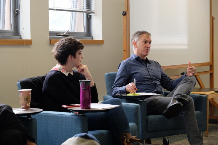 The UConn Campus Antifascist Network held a panel on Wednesday about fascism and racism.(John Sammis/The Daily Campus)
