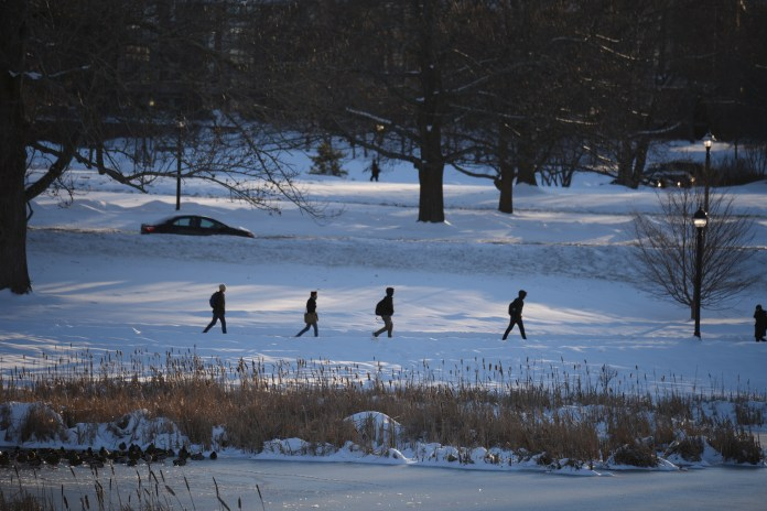 """""""Make sure to protect your ears, tip of your nose, fingers and toes, as they're most prone to frostbite,"""" Daugherty said. """"It's important to purchase warm, waterproof, mittens, boots, hats and heavy winter coats."""" (File Photo/The Daily Campus)"""