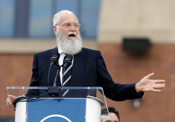 """Obama joined Letterman on Jan. 12, 2018 for the launch of the new """"My Next Guest Needs No Introduction with David Letterman"""" on Netflix. (AP Photo/Darron Cummings, File)"""