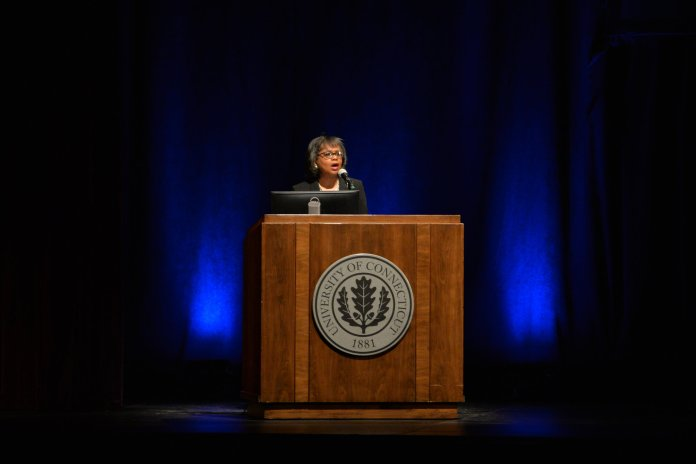 Women and people of color have every right to be impatient, and we all need to solve these problems as soon as possible, Hill said. (Amar Batra/The Daily Campus)