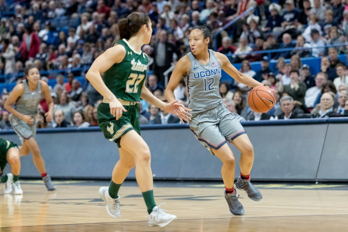 USF squares off against UConn in a game from last season (File Photo/The Daily Campus)