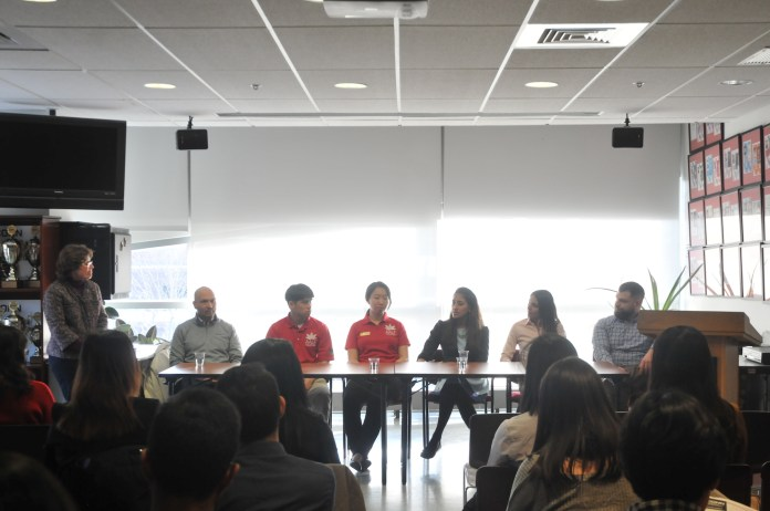 A guest panel discusses cultural organizations and the benefits of diversity in corporate environments at the Asian American Cultural Center Monday, Apr. 2 from 5:30-6:30 pm. (Natalija Marosz/The Daily Campus)