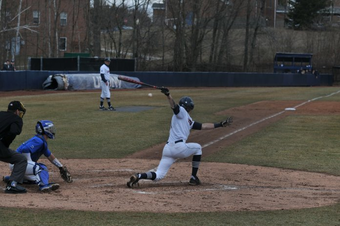 As for how UConn has been able to have success on the diamond, Penders said it is because the team buys into the message. (Jon Sammis/The Daily Campus)