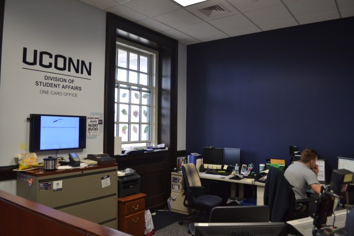 The Husky One Card office is located on the second floor of the Wilbur Cross Library. (Olivia Stenger/The Daily Campus)