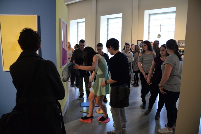 Senior Bachelor of Fine Arts students show off their final senior projects at the Art Space in Willimantic. (Amar Batra/The Daily Campus)