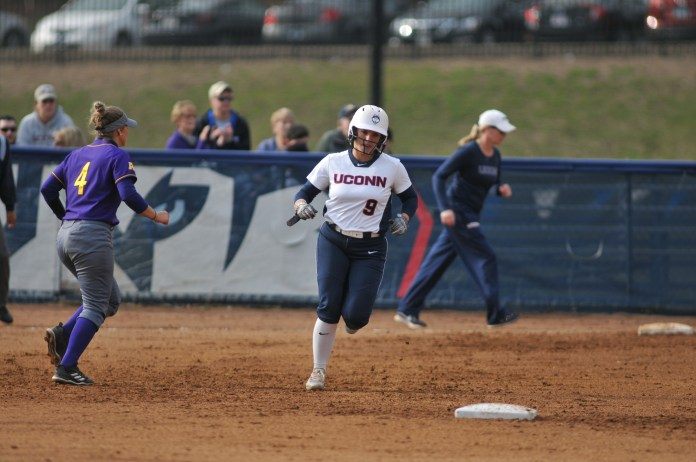 UConn welcomes ECU for a series at Burril Field on Friday, Apr. 13. In a low scoring game, the Huskies fell to the Pirates 2-1 (Jon Sammis/The Daily Campus)