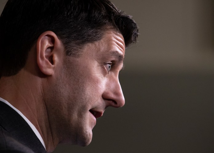 Speaker of the House Paul Ryan, R-Wis., who announced yesterday he will not run for re-election, holds his weekly news conference at the Capitol in Washington, Thursday, April 12, 2018. Ryan was asked to reflect on his time as a steady if reluctant wingman for President Donald Trump's policies. (J. Scott Applewhite/AP)