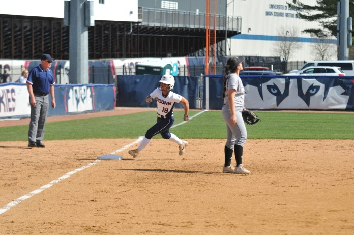 The Huskies (18-30, 3-12 the American) are coming off of back-to-back wins after defeating Bryant at home 4-1 and picking up their first road conference win over Memphis 10-0 last weekend. (Jon Sammis/The Daily Campus)