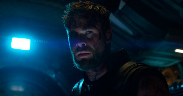 """This image released by Disney shows Chris Hemsworth as Thor in a scene from Marvel Studios' """"Avengers: Infinity War."""" (Marvel Studios via AP)"""