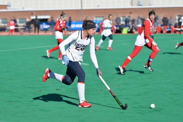 Charlotte Veitner rewrote the record book during her time at UConn. (Amar Batra/The Daily Campus)