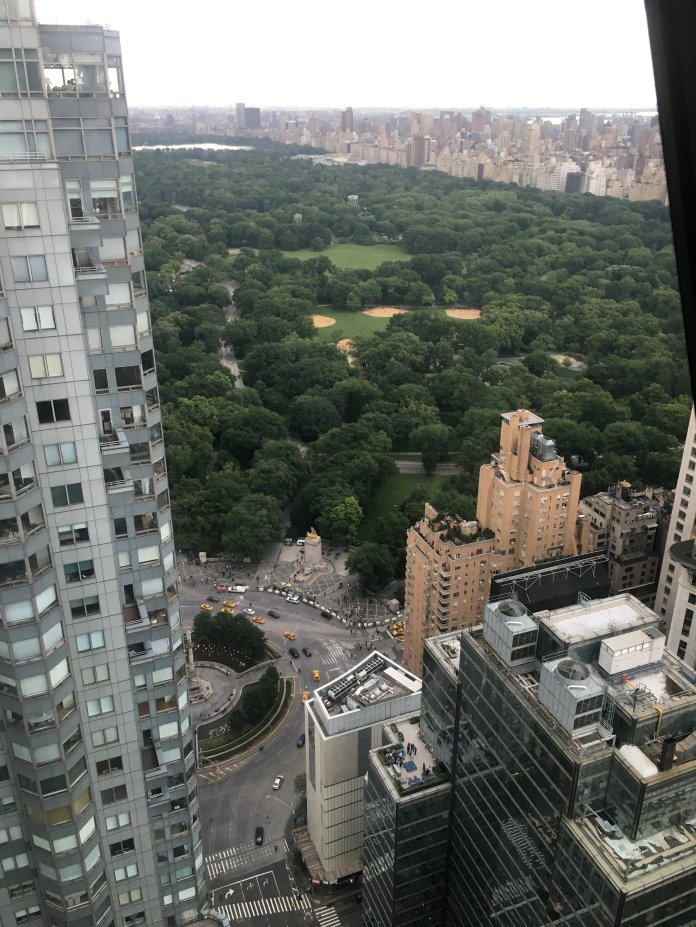 The view of Central Park from the 44th floor. (Photo by author)
