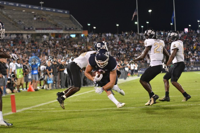 It was a long night for a young UConn team against UCF. (Eric Wang/The Daily Campus)