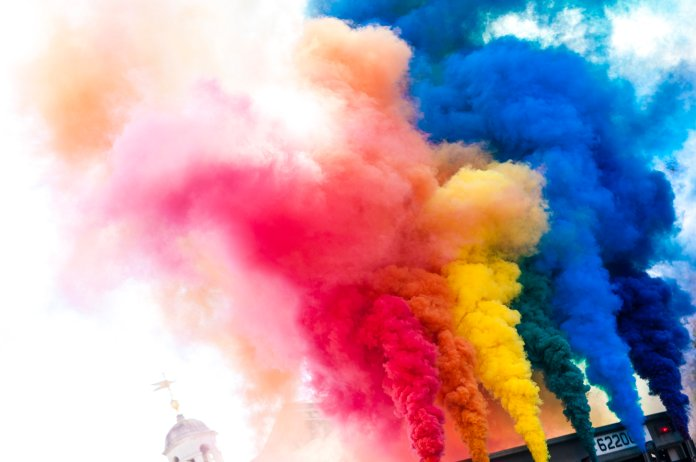 The colors of the rainbow are displayed at a Pride event. (Photo courtesy of Flickr Creative Commons)