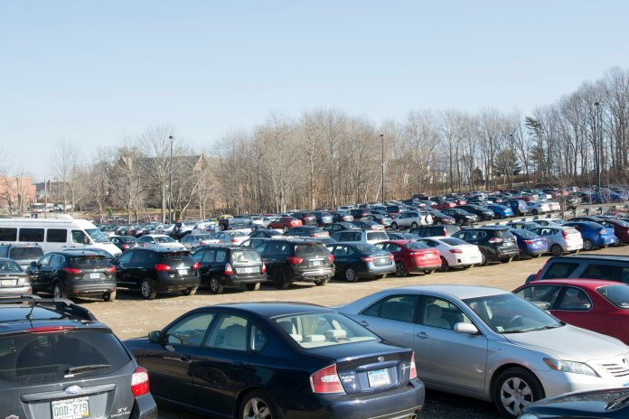 In response to student concerns, overnight parking policies across campus, along with alterations to Hilltop parking and Bishop Lot parking have been made. (Nicholas Hampton/The Daily Campus)
