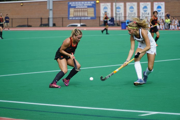 The Huskies dropped a tight contest to Princeton on Sunday to bring their record to 11-2. (Eric Wang/The Daily Campus)