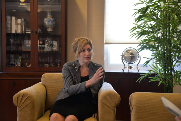 UConn President Susan Herbst talks about how the 2017-2018 year went and what the future holds for UConn in an exclusive interview with the Daily Campus on May 2, 2018. File Photo/The Daily Campus