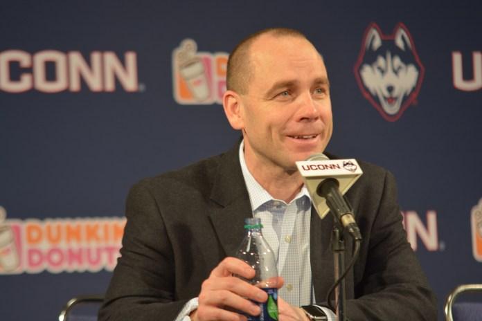 UConn head coach Mike Cavanaugh has turned UConn into a home for top European players (Nicholas Hampton/The Daily Campus)