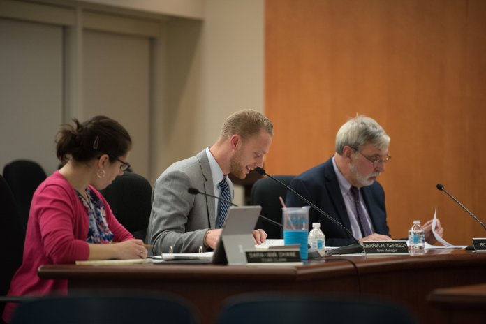 On Monday October 22, Mansfield town council meeting was held in Audrey P. Beck Municipal Building. Town Councils met and discussed varies of old, new business and petitions. (Eric Yang/The Daily Campus)