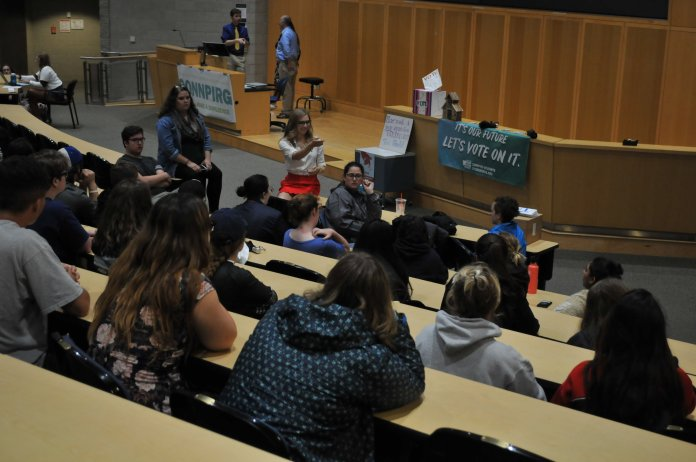 ConnPIRG hosts breakout sessions for interested students to learn about the various activities run by the organization in the ITE building on September 12, 2018. Photo by Judah Shingleton, Staff Photographer/The Daily Campus