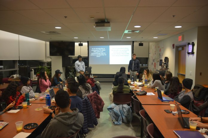 Delta Epsilon Psi hosted an open discussion about the risks of insulin prices Wednesday night. The event, supported by AsAAC and held in the cultural center, included stimulating conversation, food and drink for the participants. (Nicholas Hampton/The Daily Campus)