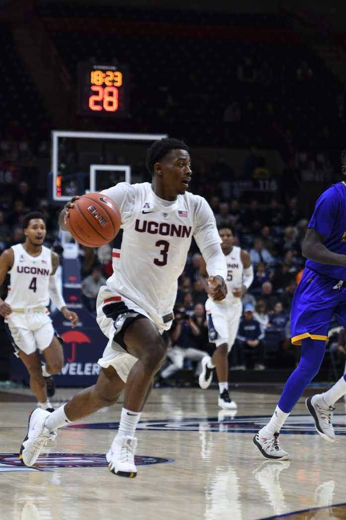 Alterique Gilbert will look to lead the Huskies against rival Syracuse. Photo by Judah Shingleton/The Daily Campus