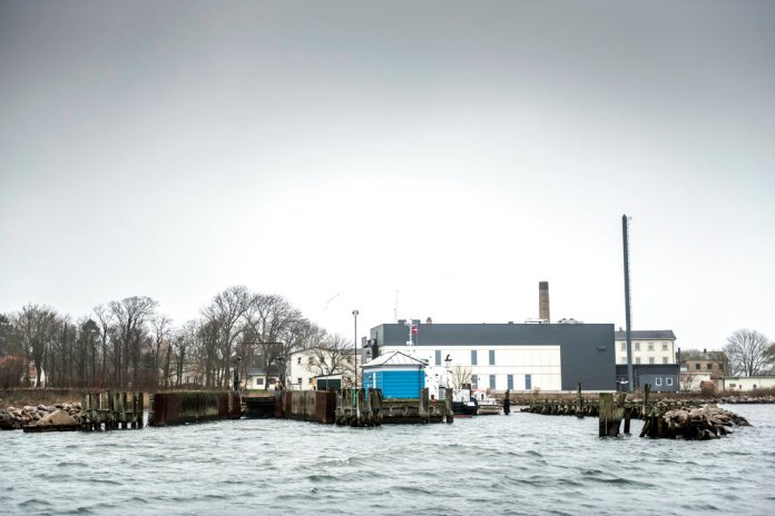 """A view of Lindholm island, Denmark, Thursday, Dec. 6, 2018. A pro-government lawmaker acknowledged that Danish plans to banish rejected asylum-seekers or those with a criminal record to a remote island may breach international law, but added that his party doesn't mind """"challenging (international) conventions."""" (Mads Claus Rasmussen/Ritzau Scanpix via AP)"""