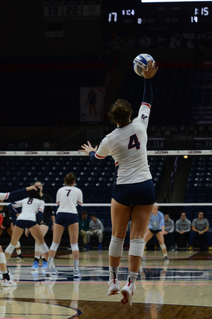 Emma Turner will leave behind quite a legacy on and off the court with Volleyball (Judah Shingleton/The Daily Campus)