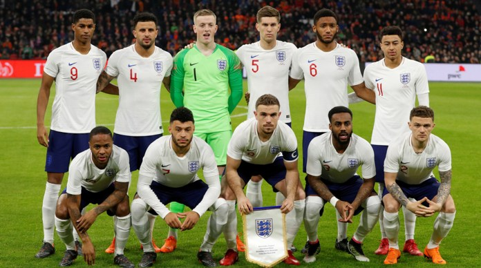 The English squad for the 2018 World Cup (Be In Sports)