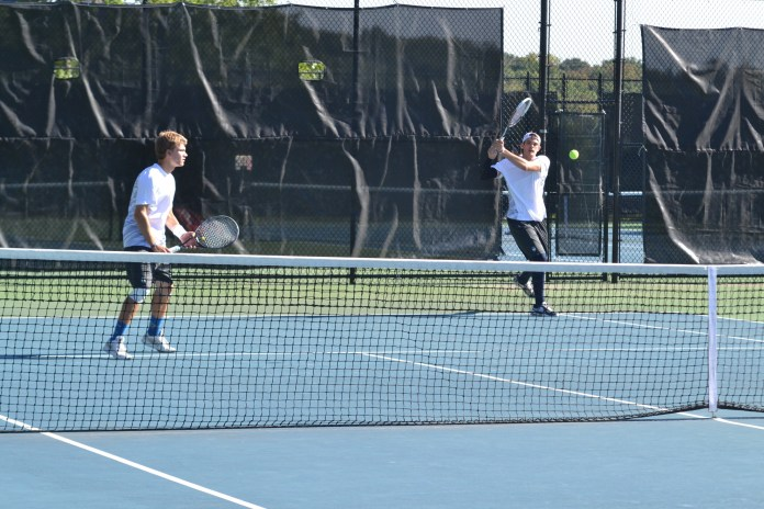 UConn Tennis in action at the courts on campus (File Photo/The Daily Campus)