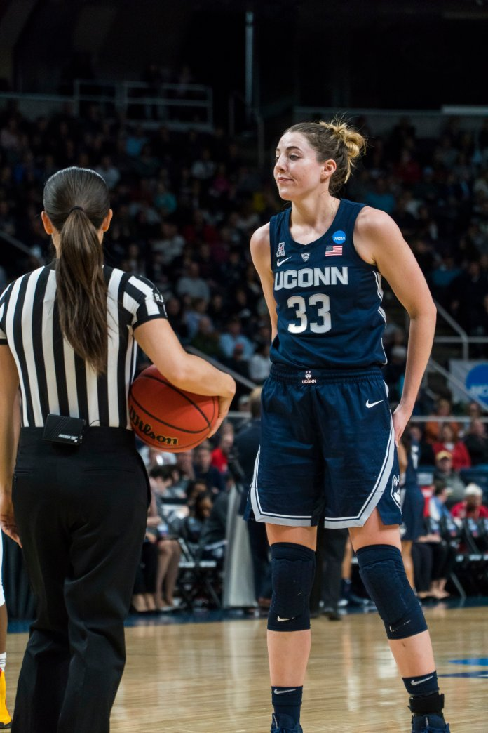 Katie Lou Samuelson propelled the Huskies to the Final Four with her huge game against Louisville. Photo by Charlotte Lao/The Daily Campus