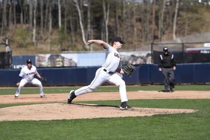 The UConn baseball team's pitching staff helped propel the team to victory over URI. Photo by Brandon Barzola/The Daily Campus
