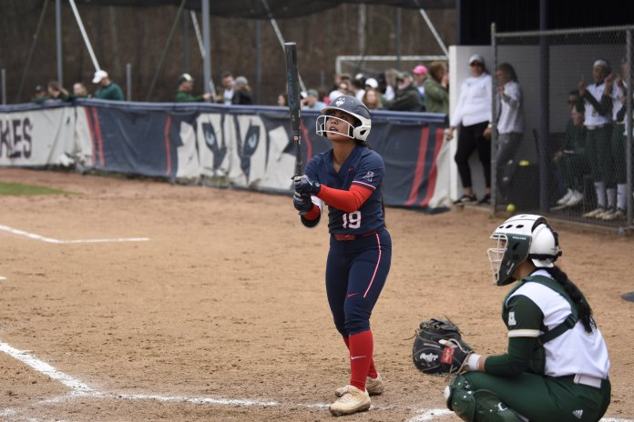 UConn Softball plays against the University of South Florida resulting in a loss of 0-1. This leaves the team at 16-27 in the season. (Photo by Brandon Barzola/The Daily Campus)