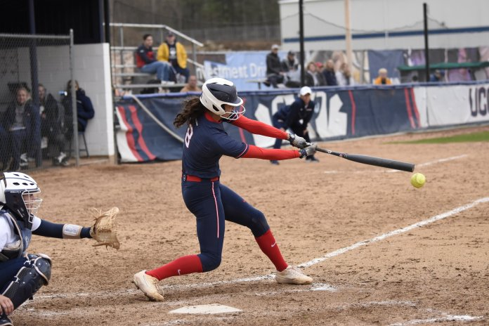 UConn Softball takes home a 2-1 win against Quinnipiac University. This leaves them at 20-27 for the season. (Photo by Brandon Barzola/The Daily Campus)