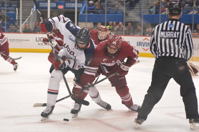After the announcement of a three-day festival, UConn men's hockey is set to compete against Sacred Heart, Yale and Quinnipiac in what Huskies head coach hopes turns into something similar to the Beanpot held in Boston.  File Photo / The Daily Campus.