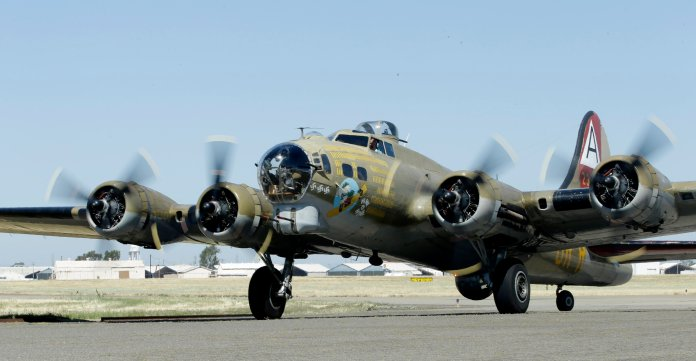 B-17 bomber , a WWII aircraft, crashed upon landing Bradley International Airport in Hartford, CT.  AP Photo/Rich Pedroncelli