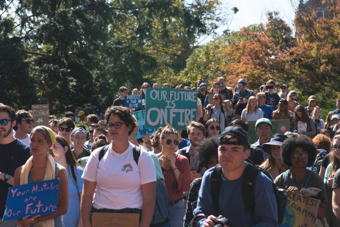 President Katsouleas' email, sent to the UConn community Wednesday afternoon, said UConn would be committing itself to reducing its greenhouse gas emissions by 45% by 2030, in line with  Gov. Ned Lamont's executive order.   Photo by Charlotte Lao / The Daily Campus