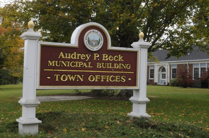 The Audrey P. Beck building is where the Office of the Town Manager is located. The building is also where town council meetings take place.  Photo by Amanda Kilyk/The Daily Campus