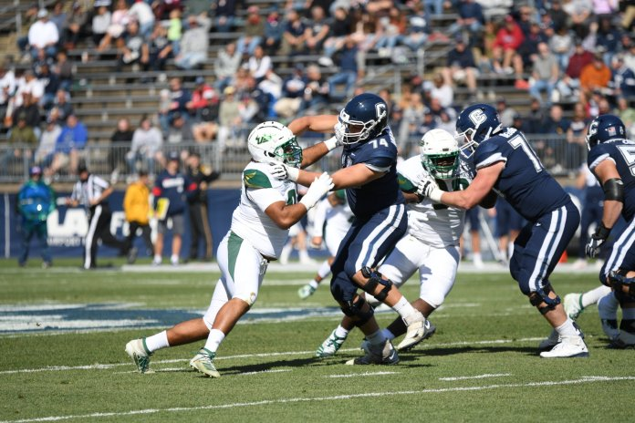 UConn is coming off a blowout loss against Tulane and can use this game as an opportunity to find their identity approaching the halfway point of the season.  Photo by Eric Wang / The Daily Campus.