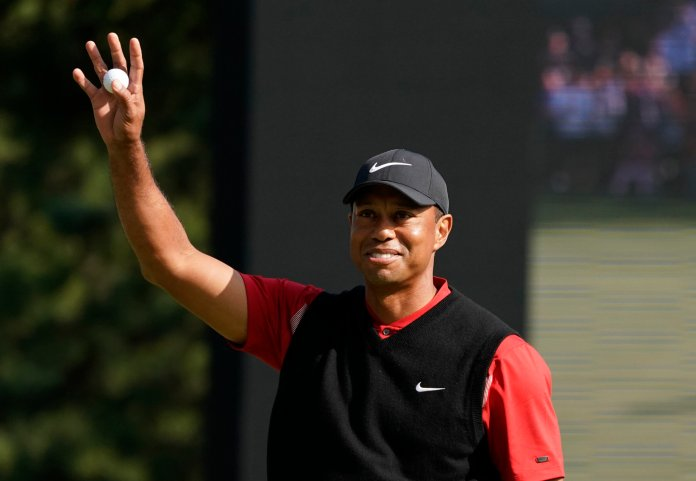 The next milestone Tiger hopes to achieve is catching Jack Nicklaus for most major championships.  Photo from the Associated Press.