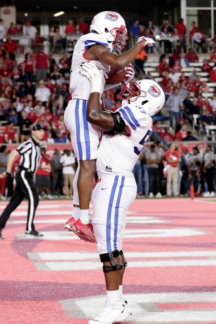 SMU continued its dominance with another win, this time beating Houston 34-31 in a closer matchup than many expected.  Photo from the Associated Press.