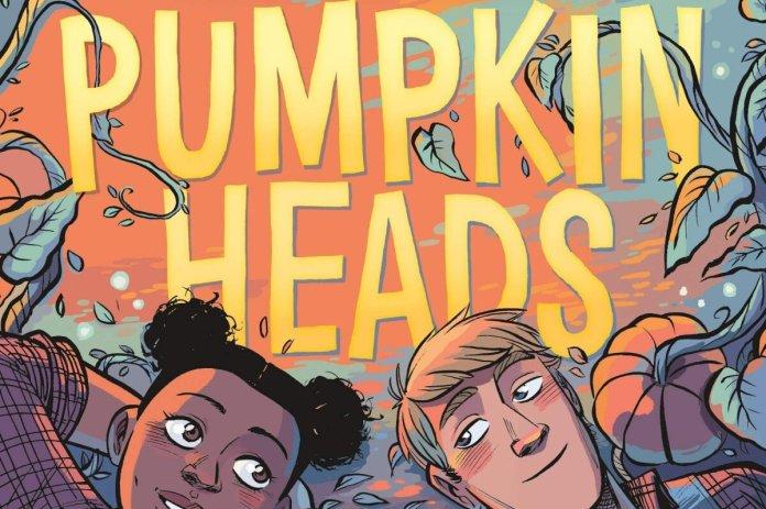 """Pumpkinheads"" by Rainbow Rowell, illustrated by Faith Erin Hicks.  Photo courtesy of    themarysue.com"