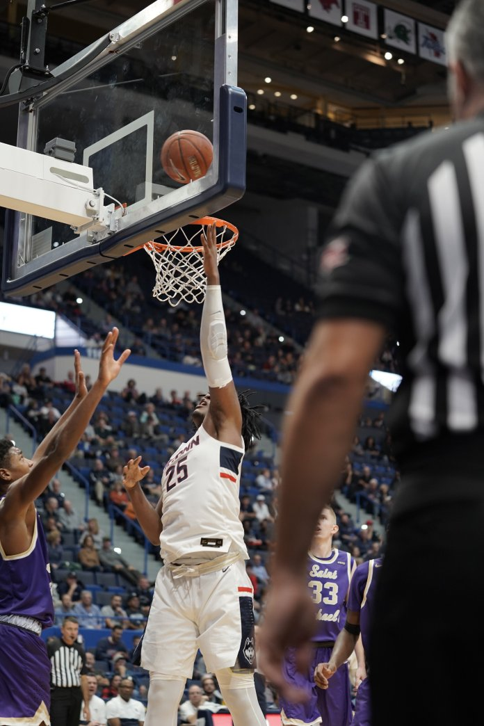 The Huskies played their first exhibition game of the season against Saint Michael's 10/30/2019 at the XL Center with a final score of 103-64.  Photo by Eric Wang/The Daily Campus