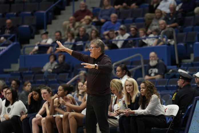 """""""It's imperative that we come up with ways that Olivia doesn't foul and stays in the game. She is someone who can make a huge difference at both ends of the floor, and there's no going around that,"""" Auriemma said."""