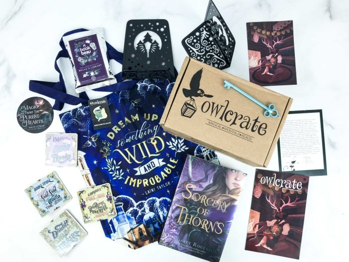 OwlCrate subscription.  Photo courtesy of    hellosubscription.com