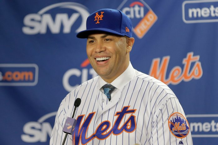 Carlos Beltran has been named the newest manager of the New York Mets, becoming the first Latino manager is New York's history.  Photo from the Associated Press.