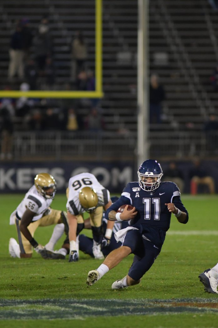 The UConn football team has their toughest challenge yet, as they prep to face off against No. 17 Cincinnati this weekend.  Photo by Kevin Lindstrom / The Daily Campus.